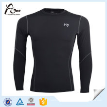 Men Long Sleeve Mesh Gym Jersey Compression Shirts