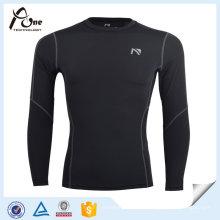 Camisas de compresión de jersey de malla de manga larga para hombres