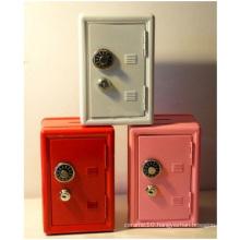 Mini Safe Modelling Piggy Bank, Metal Key Password Boxes Savings for Gift