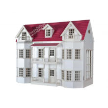 China for 1/12 Scale Wooden Dollhouse 1/12 scale Luxury Manor Dollhouse miniature in Wooden export to Germany Factories