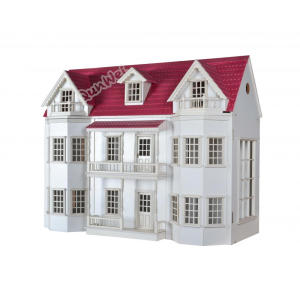 Escala 1/12 Luxury Manor Dollhouse miniatura en madera