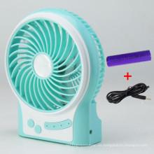 Mini ventilador de carga portátil USB con 3 niveles de exceso de velocidad del viento-Azul