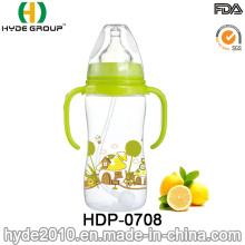 Botella de alimentación barata plástica del bebé de 320ml (HDP-0708)