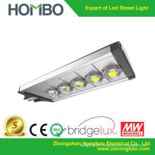 5 lâmpadas de COB luz de rua brilhante super do diodo emissor de luz Bridgelux microplaquetas conduziram a lâmpada exterior 200w ~ 230w 5 anos garantem a alta qualidade
