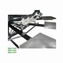 12 स्थिति मैन्युअल रोटरी स्क्रीन प्रिंटर