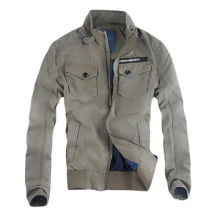 Men's Casual Jacket with 98% Cotton and 2% Elastic