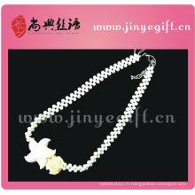 Collier de mariée en pierre blanche de style d'océan de bijoux d'été de mode