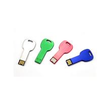 Varios colores personalizados Logo Metal Key Forma USB
