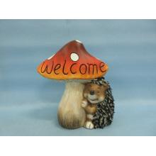 Artisanat en céramique en forme de chevreuil (LOE2533-C18) Mushroom Hedgehog