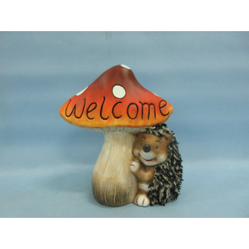 Mushroom Hedgehog Shape Ceramic Crafts (LOE2533-C18)