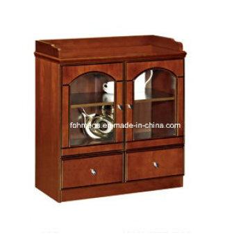 Mercado da América do Norte Pequena madeira de canto gabinete de café de escritório antigo (FOHS-E805)