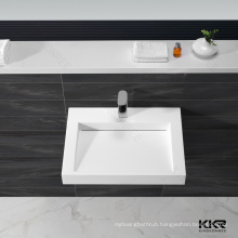 Solid surface counter top leaf shape wash basin