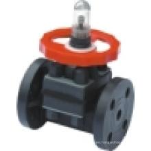 Válvula de diafragma de PVC / Válvula de diafragma de plástico / Válvula termoplástica