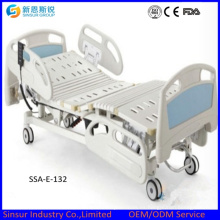 Cama de hospital eléctrica de tres sacudidas Carril lateral plástico