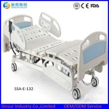 Электрические три встряхивания больничной кровати Пластиковые боковые направляющие