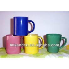 Haonai 2014 fine 11oz tasses à café en céramique en couleur unie