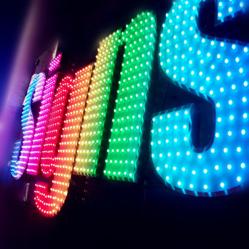 Outdoor Large LED Light Up Business Letters