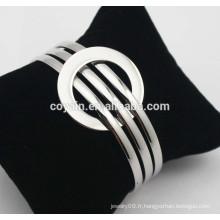 Bracelet en acier ajustable en acier inoxydable Bracelet en fil expansible