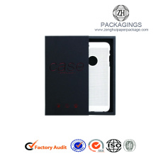 Customized hot stamping black phone case packaging