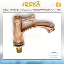 Grifos de lavabo rojo británico Jooka de agua fría
