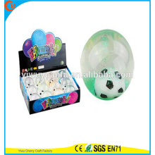 High Quality Kid's Toy Rubber LED Football Flashing Light-up Water Bouncing Ball