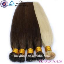 Duplo Desenhado !!! 100% Remy Completa Cutícula Pre Bonded Cabelo mongolian eu ponta extensão do cabelo