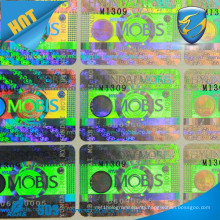 adhesive hologram sticker label /silver hologram sticker / own logo laser sticker