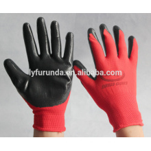 13 gauge nylon gloves nitrile coated palm working gloves