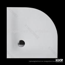 base de ducha de resina mineral compuesta, plato de ducha de piedra artificial