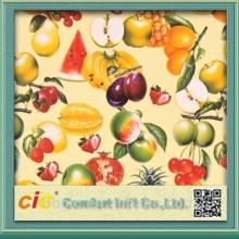 Buah-buahan corak plastik alas