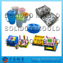 Plastic injection mold for water jug with lid