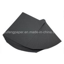 Buena calidad 100% de papel de pasta de madera 180g negro