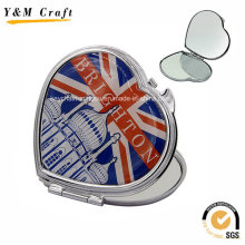 UK Design Heart Shaped Epoxy Doming Travel Mirror Wholesale Ym1164