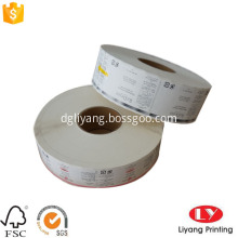 PVC vinyl sticker printing in roll