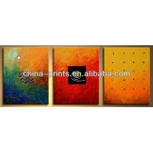 Pintura al óleo abstracta hecha a mano de la lona