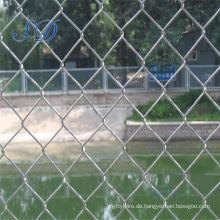 Kettenglied-Zaun benutzt für das Bauernhof-Tor, das für Spielplatz fechting ist