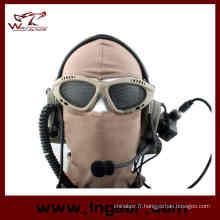 Lunettes de lunettes optiques lunettes de protection Airsoft ronde trous armée 039