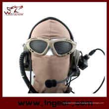 ¡Caliente! Resistencia de choque táctico de Airsoft red de caza ojos protección deportes al aire libre del acoplamiento del Metal gafas gafas