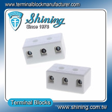 TC-503-A Panel Mounted 600V 50A 3 Way Ceramic Terminal Block