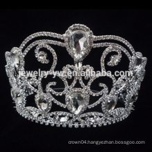 Wholesale 2015 hot sale big pageant flower crowns.pageant crowns for sale