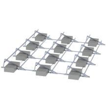 Bâti solaire de panneaux solaires de toit plat de système solaire de l'application 1MW