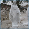 Life Size White Marble Virgin Mary Statues for sale