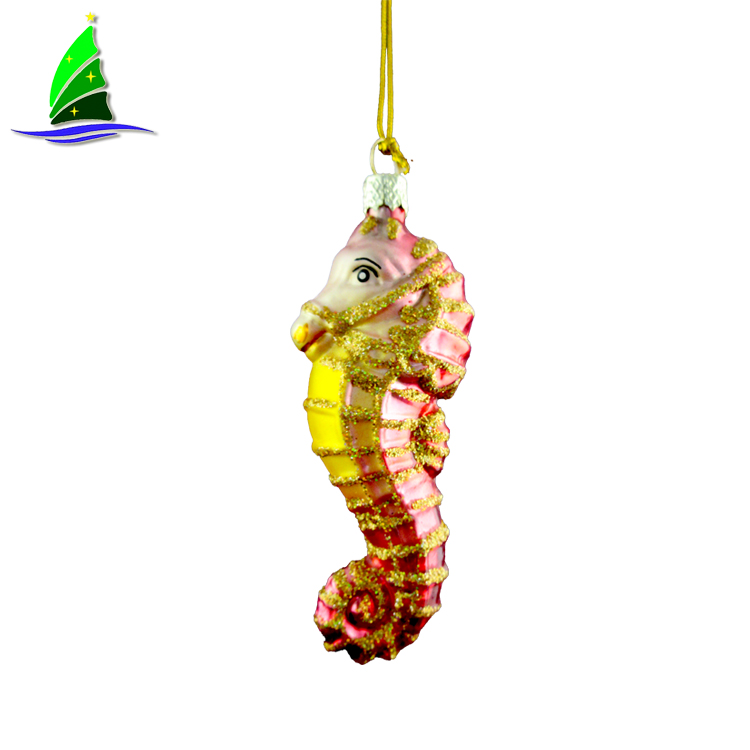 Hanging Gold Sea Horse Ornaments