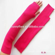 OEM High Quality Women 100% Cashmere Fingerless Gloves
