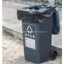 Large Size Flat Bottom Sealing Plastic Garbage Bag