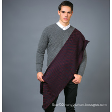 100% Men′s Wool Scarf in Solid Color Yarn Dye Wool Scarf