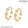 94368 -Xuping Jewelry últimos diseños agraciados agraciado simple del aro del oro para las mujeres