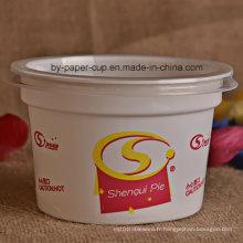 Haute qualité de la crème glacée en plastique