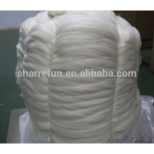 100% super fine Alashan white cashmere tops 15.0mic 44mm