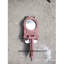 Válvula de compuerta de cuchillo de oblea de acero inoxidable (WDS)
